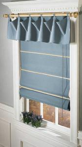 China Designed Windows Roman Shades Blinds , Modern Scalloped Roller Blinds on sale