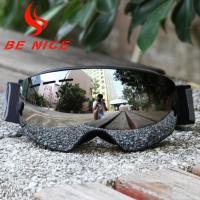 China Silver Boys Girls Ski Goggles , Children's Sports Goggles Dual Adjustment on sale