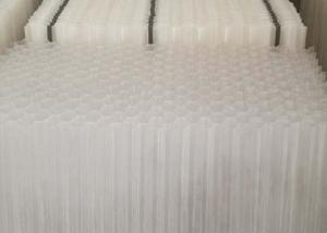 China FDA Certificate White Color Tube Settler Media Inclined Pipe Packing Ethylene on sale