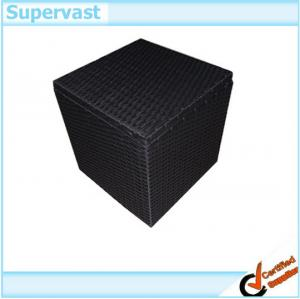 China All Weather Resin Wicker Patio Storage Boxes , Garden Rattan Storage Box with lids Waterproof on sale