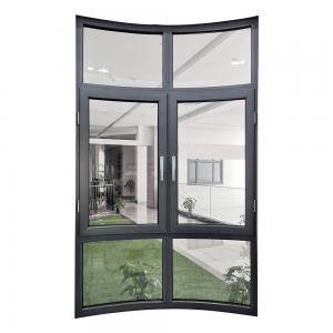 China Arched 1800mm 1.9mm Sound Proof Casement Windows on sale