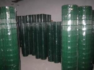"China PVC coated  welded mesh netting 16 gauge, 1""x1"" mesh, 48""x100' - 110 lbs. on sale"