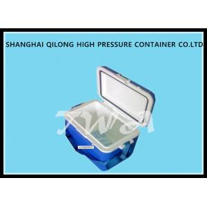 China 16L HS713C Ice Cooler Box White Top And Blue Box 380×250×346 Mm on sale