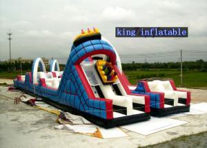 China Kids Play Roller Coaster Inflatable Slide , Inflatable Amusemet Park Slide on sale