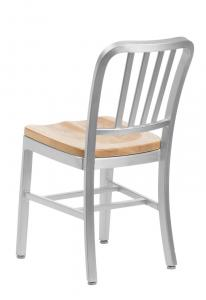 durable aluminum navy chairs with wooden seat emeco navy chair for
