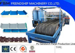 China JF100 tipo cadena de producción del panel de bocadillo de la PU para 30-200m m on sale