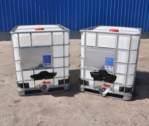 1000L Caged Water Tanks Rebottled IBC Totes for sale – IBC tank