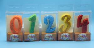 China Birthday Candles 0-9 Number Candle with colorful Powder and 5 colors changing on sale