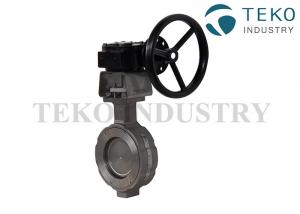 China Flanged Type High Performance Butterfly Valves 36 Inch Large Size Monel Disc Motorized on sale