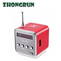 China TDV26 card speaker radio mini stereo portable small speaker with display screen MP3 player on sale