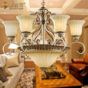China 9 Light Living Room Decorative Modern Chandelier Lighting with Silver / Gold Painting on sale