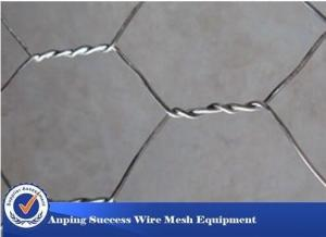 China High Zinc Coating Gabion Wire Mesh Baskets Simple Construction Hexagonal Hole Shape on sale