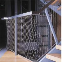 China stainless steel 304/316 wire rope mesh fence,Stair handrail Decorative Guardrail mesh on sale