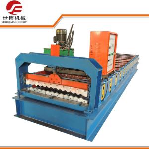 China Programmed Corrugated Sheet Roll Forming Machine 13 Rows Roller Stations For Roofing Tile​ on sale