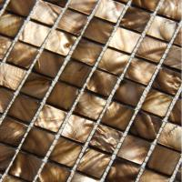 Handmade Beautiful Sea shell Mosaic Freshwater Sea Shell Wall Mosaic Bronze Color 20x20mm