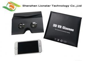 China Promotional Flat Type Virtual Reality Goggles , Customized Logo Google Cardboard 3D on sale