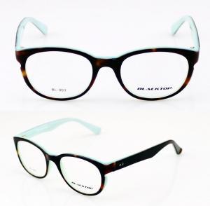 China Unisex Handcrafted Black Novel Eye Glass Frames With Demo Lens on sale