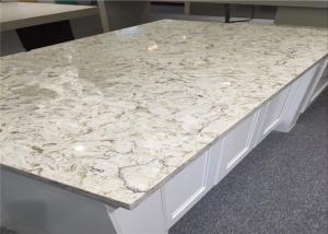 Oem Flora Bloom White Quartz Top Premade Kitchen Countertops