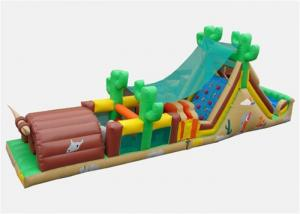 China Customized Outside Obstacle Course Games Inflatable With Air Blower on sale
