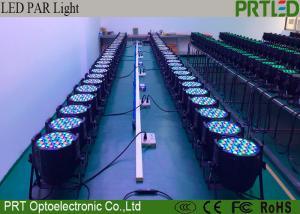 China Mini 54 Pcs LED Stage Lights 3 In 1 IP33 RGB LED Plastic Flat Par Light on sale