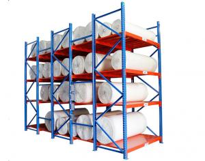 China Cold Rolled Steel Warehouse Storage Shelves For Fabric / Cloth Adjustable Layer on sale