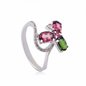 China HOT-Selling 100% 925 Sterling Silver with zircon Crystal gemstone Silver Jewellery Rings  on sale