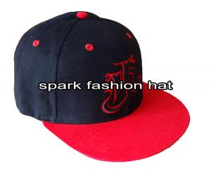 Quality Customize two tone embroidered flat brim snapback hat for sale