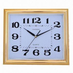 China Big Square Wall Clock, 38.5 x 32.5cm, Super Silent Movement, Elegant Design on sale
