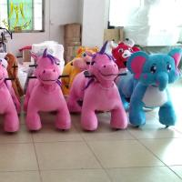 Hansel high quality plush furry toy for mall rideable animal with non coin