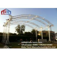 Customized 300mm Aluminum Arch Spigot Truss For Structure , Exhibition Truss System