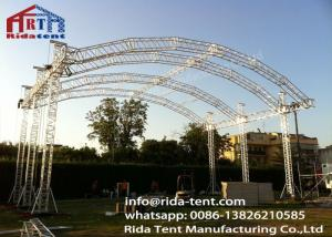 China Customized 300mm Aluminum Arch Spigot Truss For Structure , Exhibition Truss System on sale