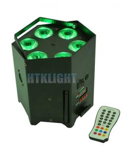 China Durable Battery Powered DMX Lights 6x15W 5in1 With IR Wireless Remote Controller on sale