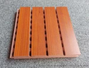China Custom Solid Wooden Grooved Acoustic Panel Sound Asorption Board For Music Room on sale