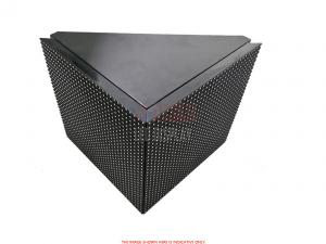 China P10mm 90° Curved Outdoor Front Maintenance LED Display Flexible Building Facade Wall on sale