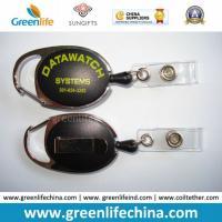 Oval Heavy Duty Black Carabiner Badge Reel Holder W/Vinyle Strap