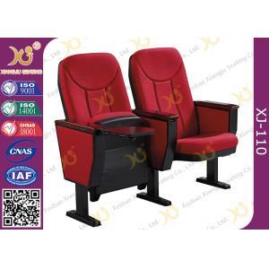 China Cadeiras da sala de conferências da repercussão de Seat da gravidade do braço da madeira maciça com base do ferro on sale