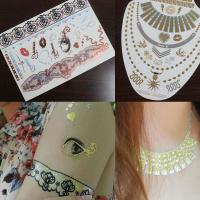 Custom jewelry inspired temporary metallic tattoos