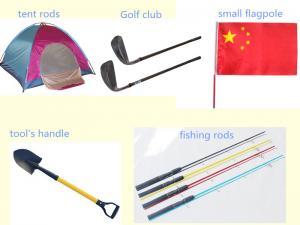 China tent pole, fiberglass round tubes and fiberglass golf sticks on sale