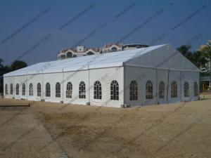 China 15*30M Waterproof Marquee Tent with Church Windows and Whole Fabric PVC Roof Cover For Outdoor Party on Beach on sale