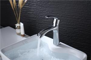 China Custom Logo Deck Mounted Bathroom Vanity Faucets , Modern Bathroom Sink Faucets on sale