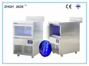 China 600*650*800mm LED Blue Light Cube Ice Machine for Milk Tea Shop on sale