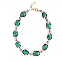 China Crystal Color Mix Necklace OBR0005 on sale