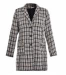 Long Sleeve Fashion Ladies' Long Coat With Buttons Front Design Eco Friendly