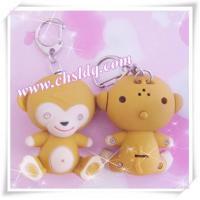 Monkey fashion led key chain, sound keychain