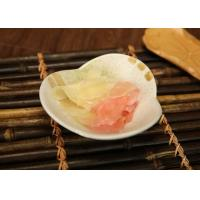 Sliced Fresh Sweet Pickled Ginger , White And Pink Japanese Sushi Gingers