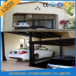 China Steel Auto Car Lift , Hydraulic Garage Car Lift Double Deck Car Parking System on sale