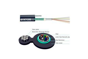 China GYXTC8S Overhead Duct Fiber Optic Cable G652D Figure 8 Aerial 24 Core PVC LSZH PE Jacket on sale