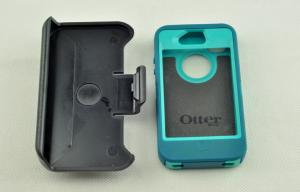 China Waterproof Outerbox Iphone 4 Hard Shell Case Deep Teal Blue With TPU Metarial on sale