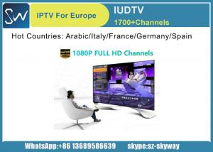 China IUDTV IPTV Subscription 10 Pieces and Each for 1 Year offer reseller Control panel supplier