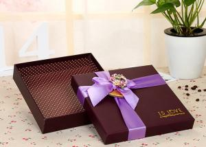 China Varnishing Printed Packaging Boxes / Brown Chocolate Box Luxury Color Paper on sale